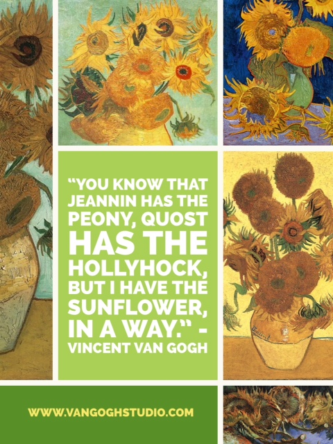 You know that Jeannin has the peony, Quost has the hollyhock ...
